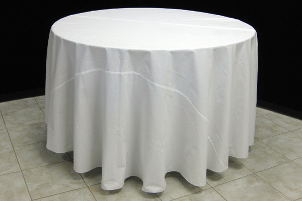 Round Table Linen Size Chart Free, What Size Tablecloth For 60 Inch Round Table