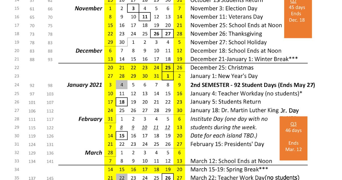 Doe Hawaii Calendar 2021 | Lunar Calendar