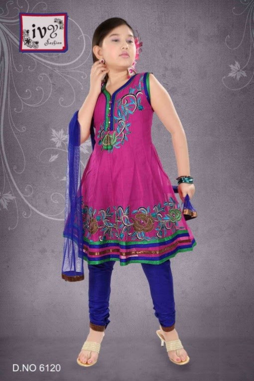 Trade-india-Summer-Anarkali-Beautiful-Cute-Eid-Dresses-2013-For-Kids-Childrens-4