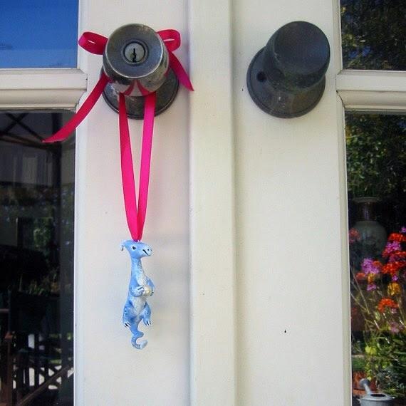 Blue and Silver Dragon Ornament