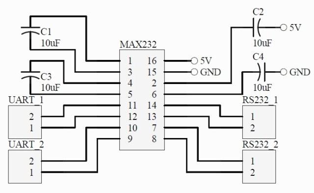 komputer  max232 driver