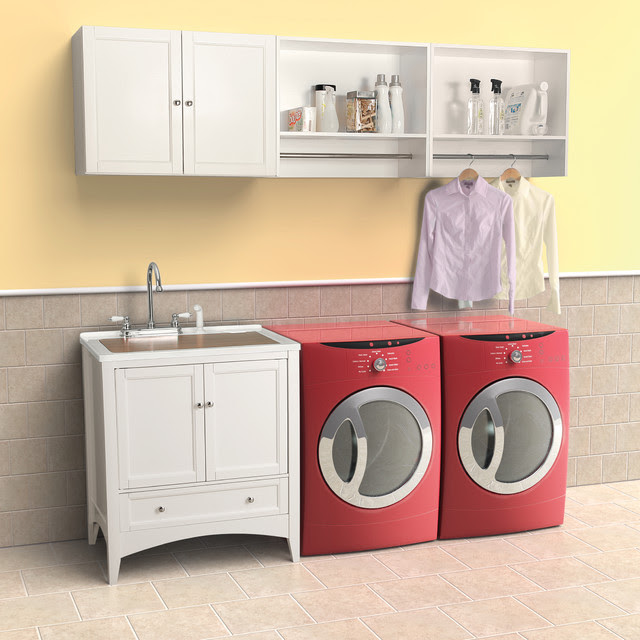 Berkshire White Laundry Vanity by Foremost - contemporary ...