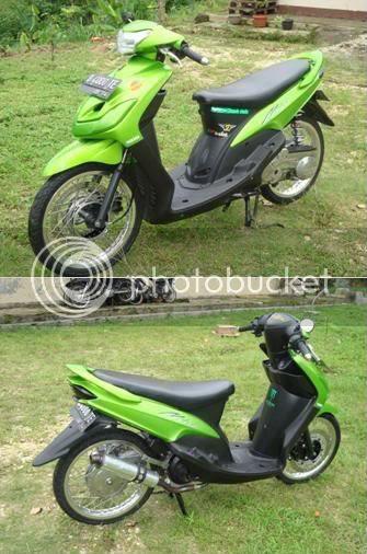 referensi modifikasi motor mio sporty hijau