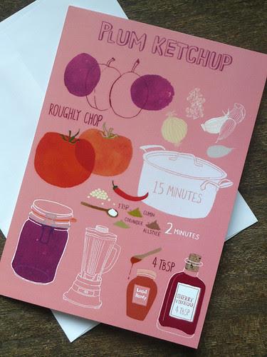 plum ketchup card