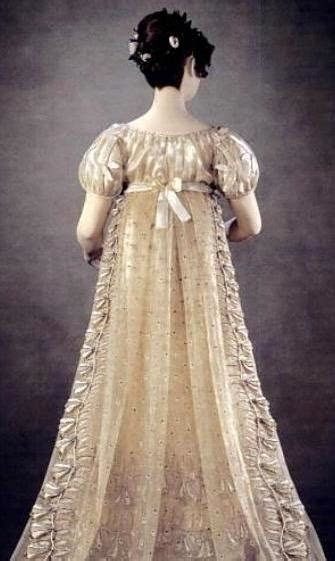 "1814 16 Princess Charlotte ""bellflower"" court dress seen"