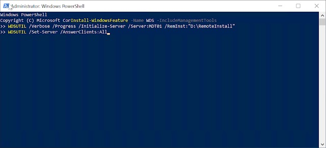 Windows Deployment Services PXE Boot Configuration