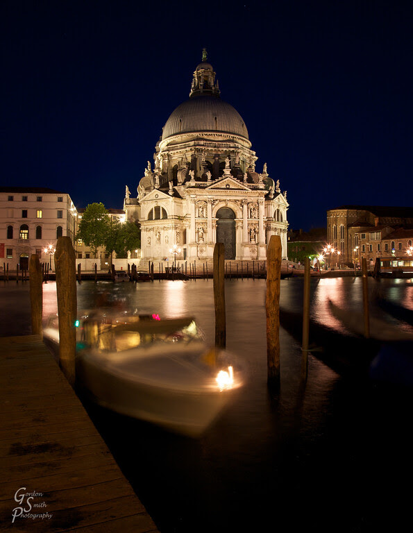 Venice Salute cathedral night