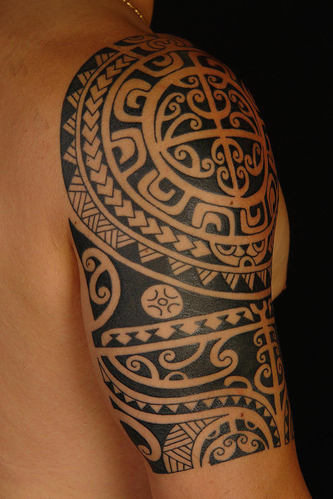 Hercules Greek Tattoo On Half Sleeve