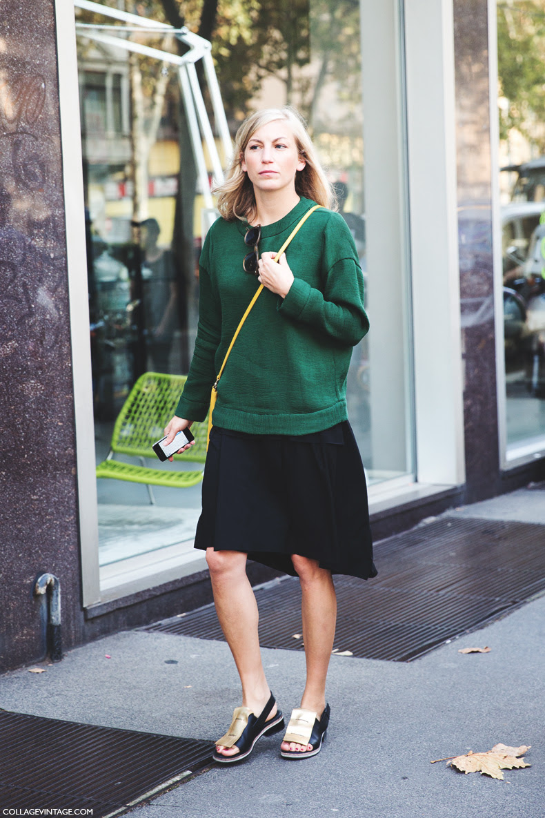 Milan_Fashion_Week_Spring_Summer_15-MFW-Street_Style-Green_Sweater-Midi_Skirt-