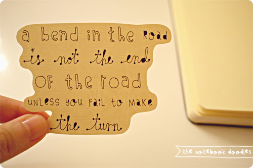 road, success, quote, notebookdoodles, calligraphy, hand drawn, notebook