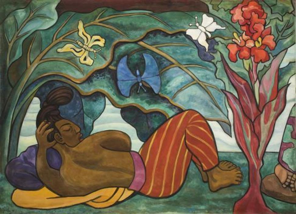 Diego Rivera, Juchitán River (Río Juchitán), 1953–1955, oil on canvas on wood, Mexico, INBA, Museo Nacional de Arte © 2017 Banco de México Diego Rivera Frida Kahlo Museums Trust, Mexico, D.F.  / Artists Rights Society (ARS), New York