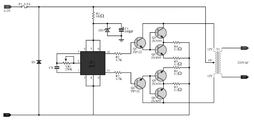 1000w inverter circuit with irf540