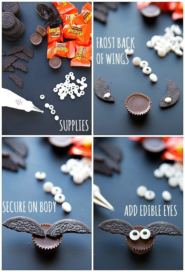 EASY 4-INGREDIENT EDIBLE BAT TREATS FOR HALLOWEEN