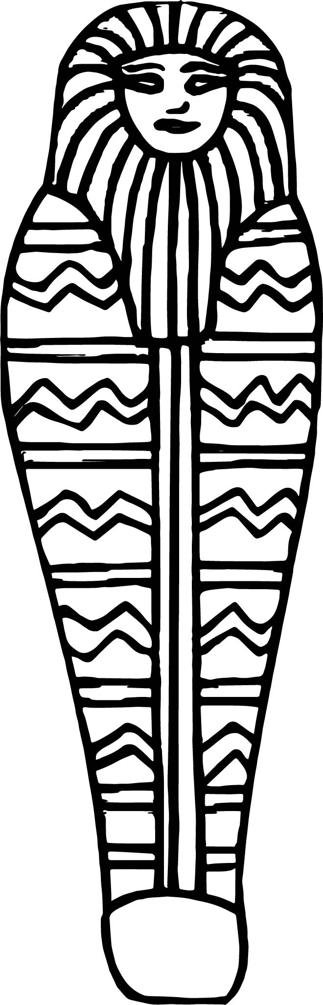 Ancient Egyptian Mummy Coffin Coloring Page