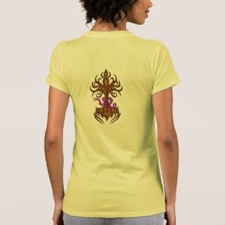 Tree of life with snake bronze t-shirts