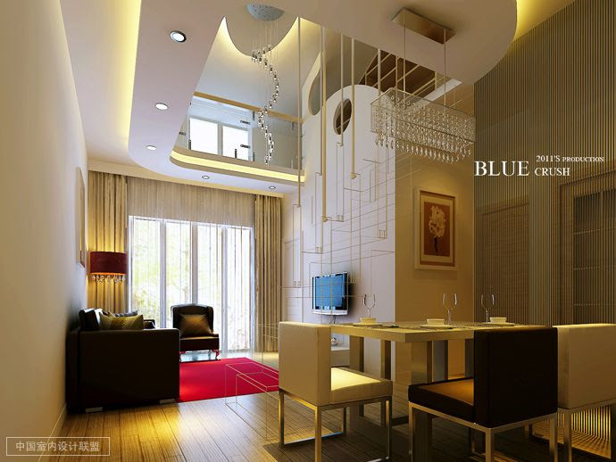 high ceiling dining