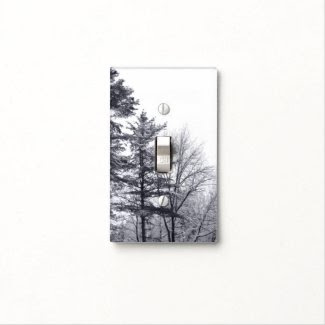 Snow-covered Trees: Vertical Switch Plate Cover