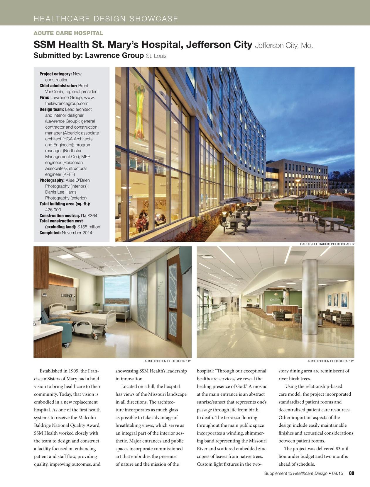 Healthcare Design September 2015