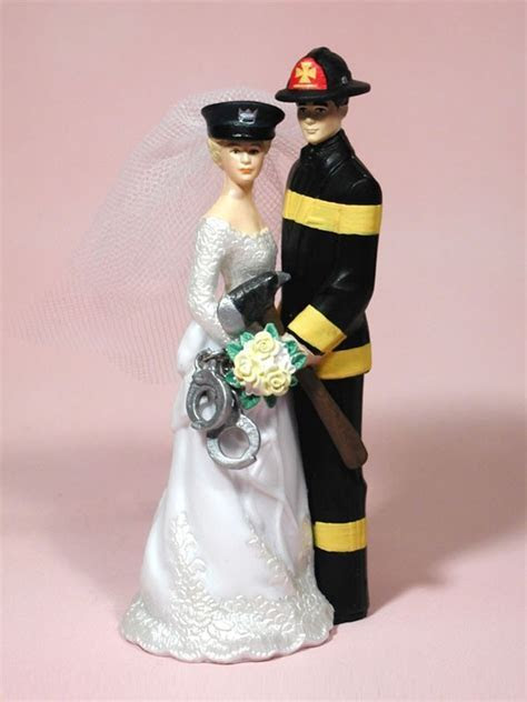 Our Special Day Police Officer Bride Fireman Groom