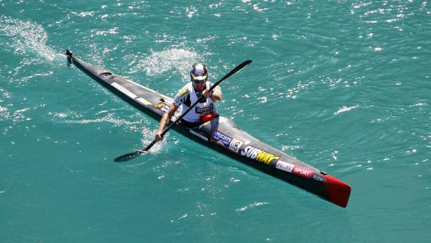 NEW DIRECTOR: Richard Ussher, pictured at the finish of the kayak leg last year.