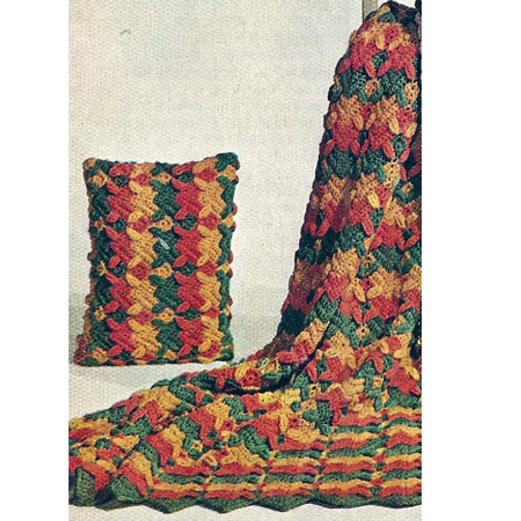Ripple Overleaf Crochet Afghan Pattern