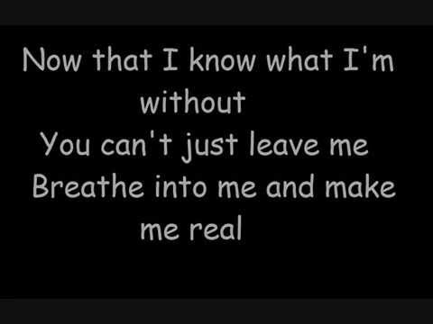 Evanescence Bring Me To Life Lyrics Youtube