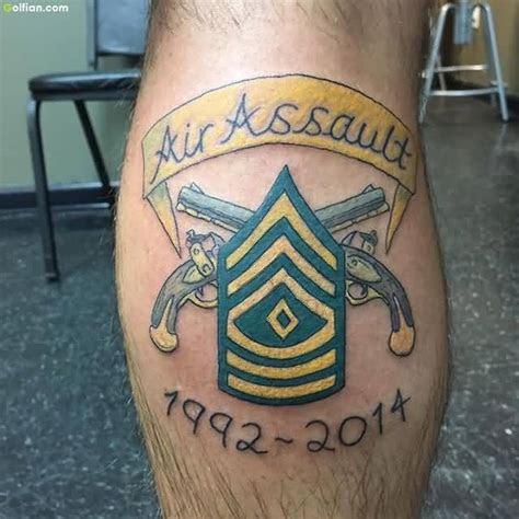gun axe army infantry tattoo men calf segerioscom