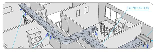 Aire acondicionado split como instalar conductos de aire - Calefaccion por aire ...