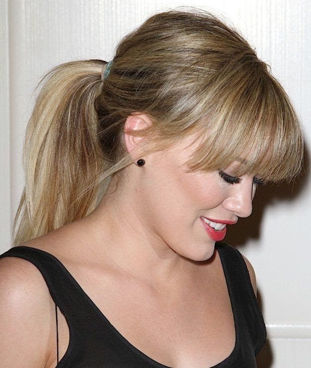 ponytail  with front bangs  Hairstyles  Pinterest