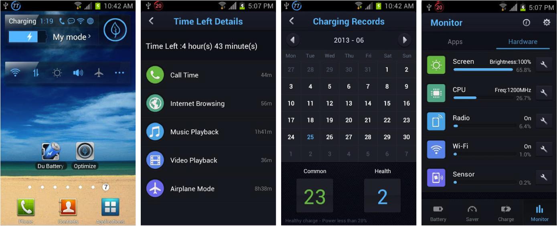 Ada fitur keren lagi dari aplikasi penghemat baterai android Du