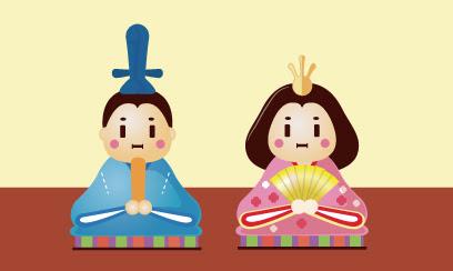 ひな祭り ひな人形のイラスト Ec Designデザイン
