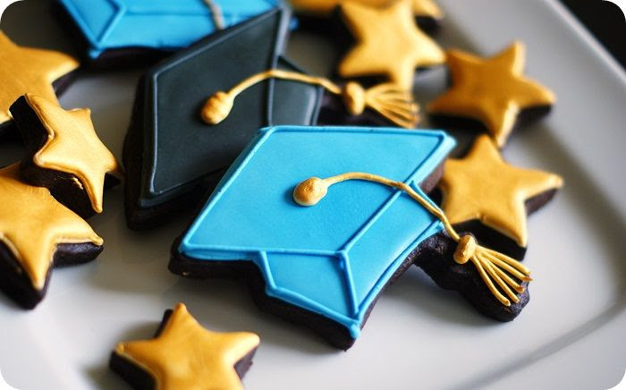 graduation cookies ::: bake at 350 blog