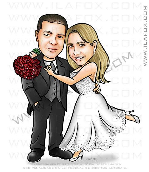 caricatura casal, caricatura noivos, caricatura bontia, by ila fox