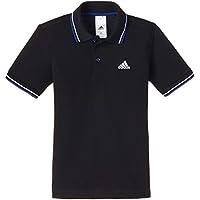 Adidas Boys' Polo Shirt (M65407128_Black and Collegiate Royal_128)