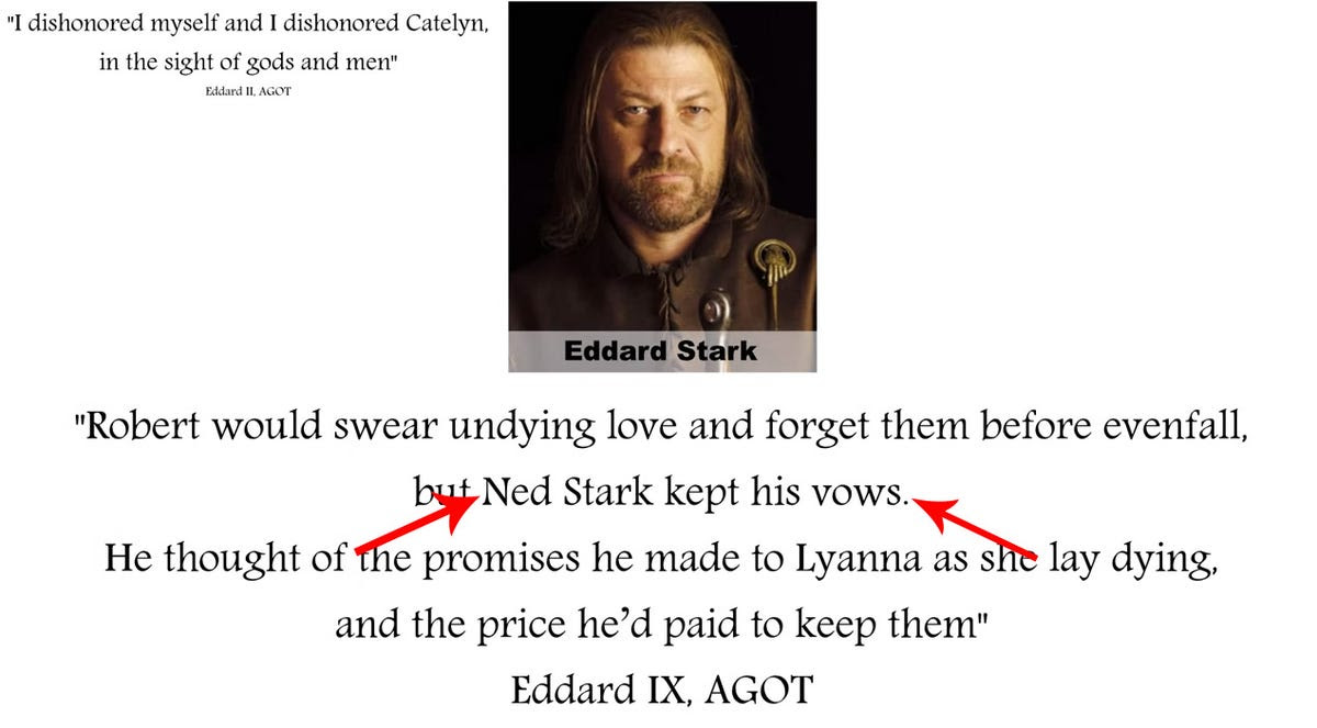 Ned keeps his vows, game of thrones_edited 2