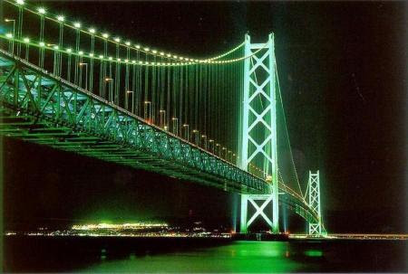 foto nocturna del puente broklyn hermosamente iluminado nueva york