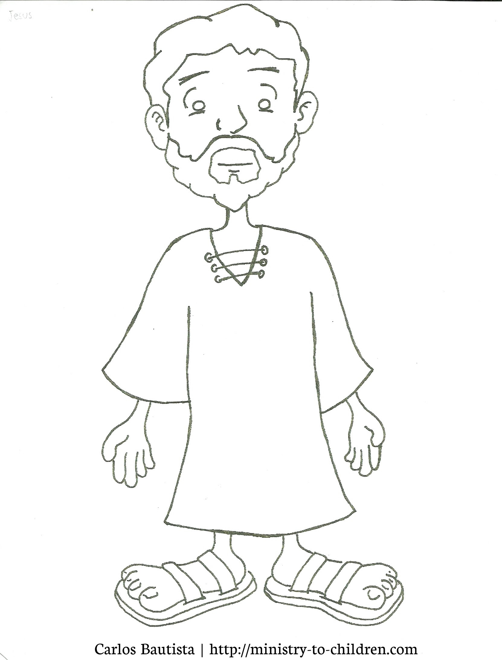 Coloring Jesus Cartoon Drawing