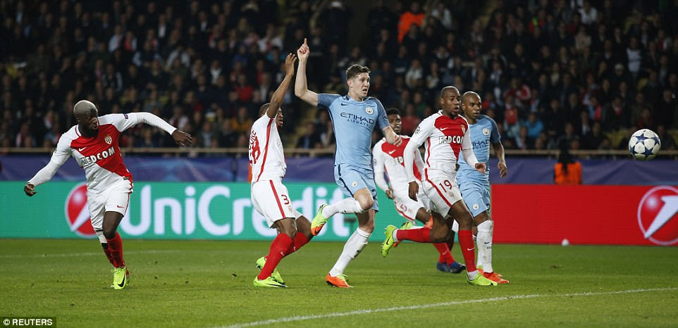 City's hearts were then broken just minutes later when Tiemoue Bakayoko fired a free header past goalkeeper Caballero