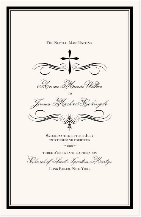 Catholic Wedding Programs   Catholic Wedding Ceremony