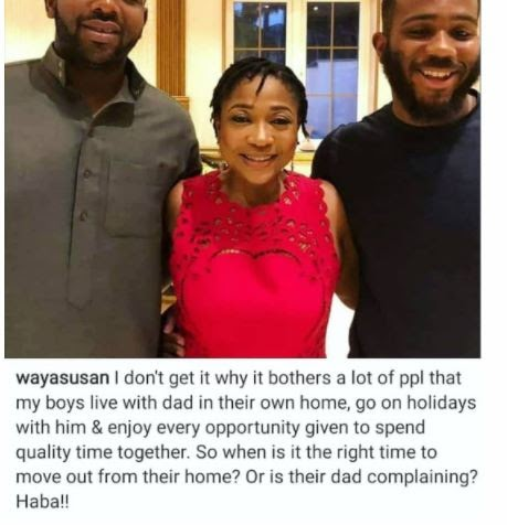 """""""I Don't Understand Why It Bothers People That My Sons Still Live With Their Dad"""" — Susan Waya"""