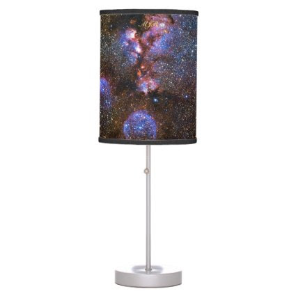 Monogram Cats Paw Nebula in Scorpius space picture Table Lamp