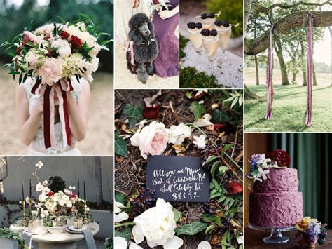 Berry and Black Wedding Colors   Burnett's Boards