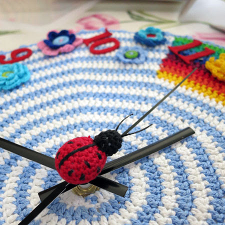 Crochet hour ladybug