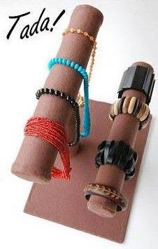 DIY Paper Roll Jewelry Display