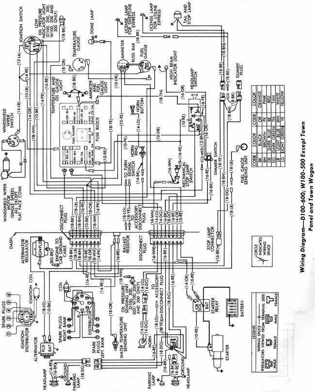 Dodge D100 Wiring Diagram