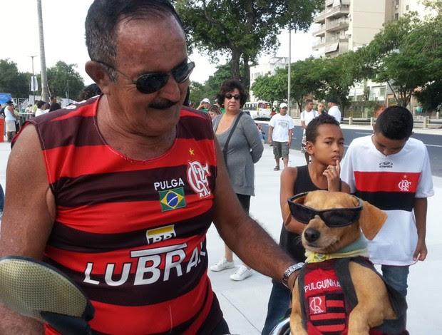 torcedor flamengo adino barbosa reabertura maracanã (Foto: Janir Júnior)