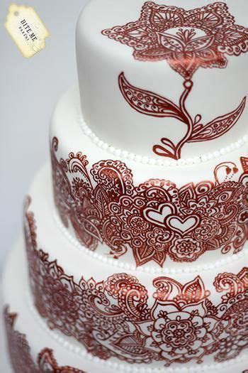 17 Best ideas about Mehndi Cake on Pinterest   Henna cake