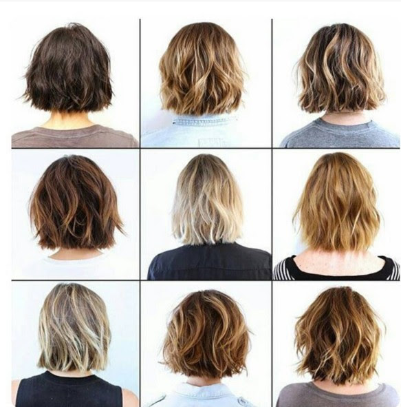 Layered Hair Medium Short