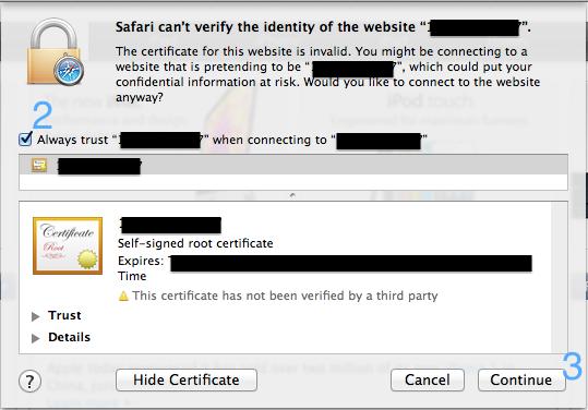 Safari 证书 2