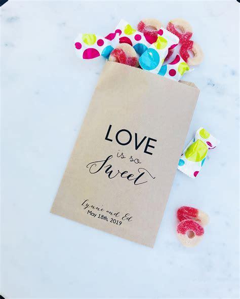 Love Sweet Wedding Candy Bar Bags   SALTED Design Studio